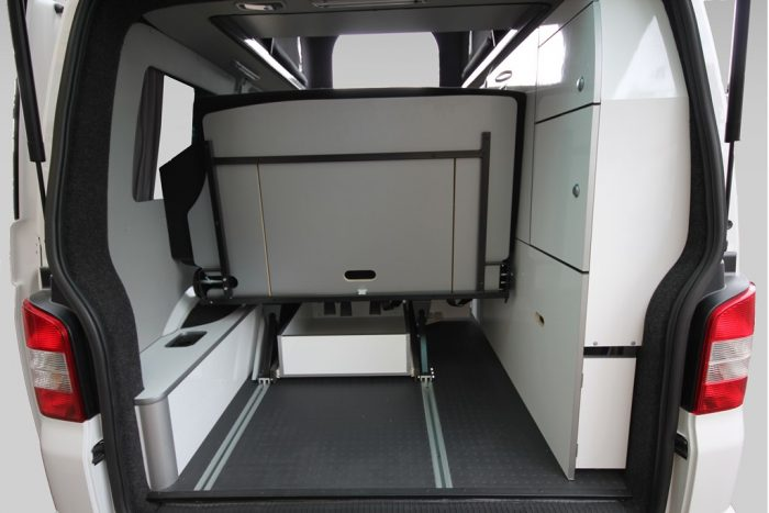 VW T6 Trio Style Flexible Boot Area