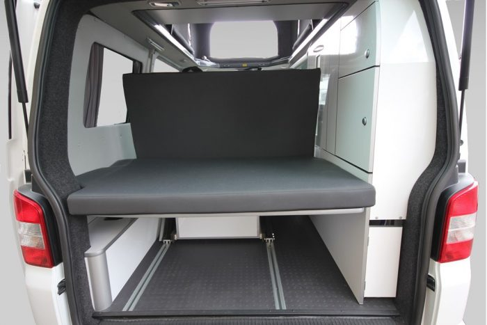 VW T6 Trio Style LWB Flexible Boot Area